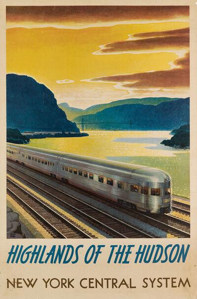 Leslie Ragan, 'HIGHLANDS OF THE HUDSON / NEW YORK CENTRAL SYSTEM', 1947