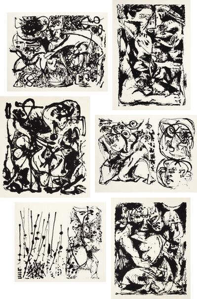 Jackson Pollock, 'Untitled Portfolio (O'C. & T. 1091-1096)', 1951
