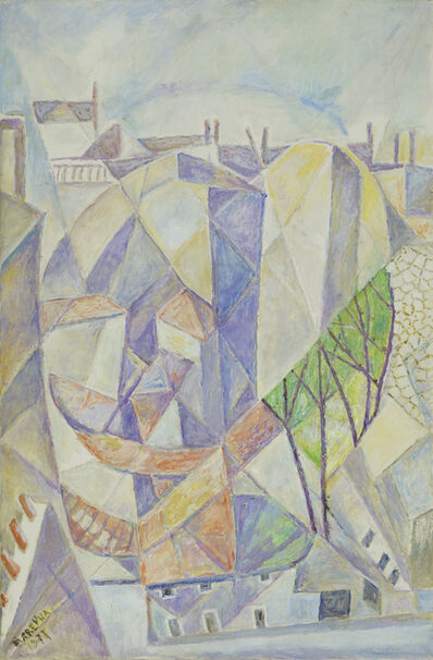 Marie Vorobieff Marevna, 'Parisian Scene', 1977