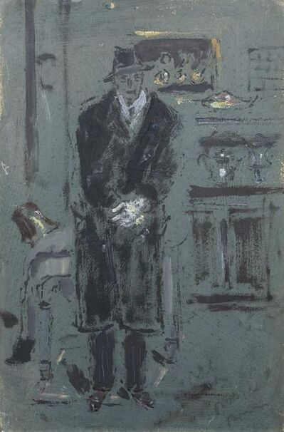 Filippo De Pisis, 'Man with coat', executed in 1932