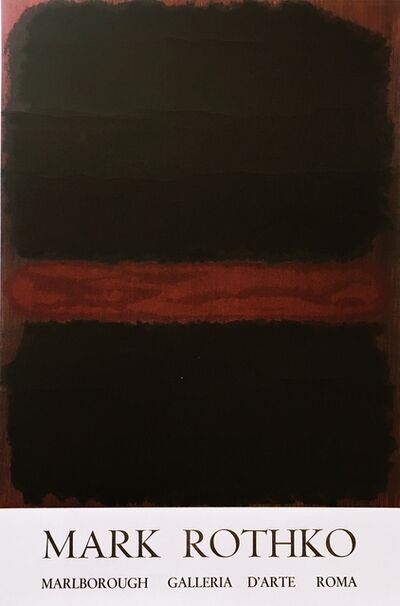 Mark Rothko, 'Mark Rothko, Marlborough Galleria D'Arte Roma ', 1970