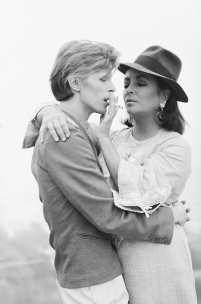 Terry O'Neill, 'David Bowie and Elizabeth Taylor', 1975