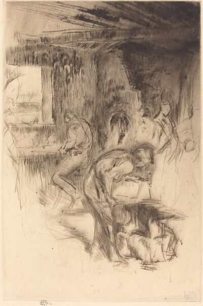 James Abbott McNeill Whistler, 'The Little Forge', 1875