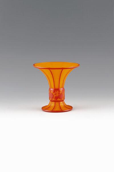 Hans Bolek, 'Vase orange opal with red', Bohemia-1916