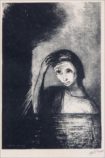 """Odilon Redon, '""""Les débâcles"""" - lithography for the frontispiece of Emile Verhaeren's book 'les débâcles'', 1889"""