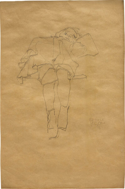 Egon Schiele, 'Liegendes Kind (Reclining Child)', Drawn in 1910 (incorrectly dated 1908 according to Jane Kallir)
