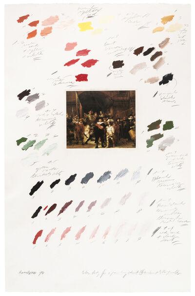 """Osvaldo Romberg, 'Estudio del color para """"La Ronda Nocturna"""" (Rembrandt)', 1974"""