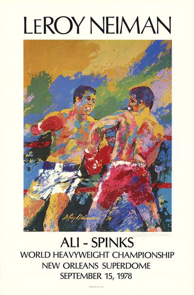 LeRoy Neiman, 'Ali - Spinks', 1978