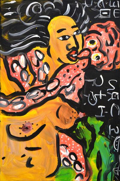 Jeffrey Spencer Hargrave, 'Afro Geisha with Orange Octopus ', 2018