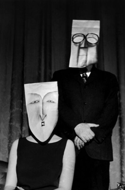 Inge Morath, 'USA. New York, NY. Masked couple. Saul Steinberg mask series. ', 1961