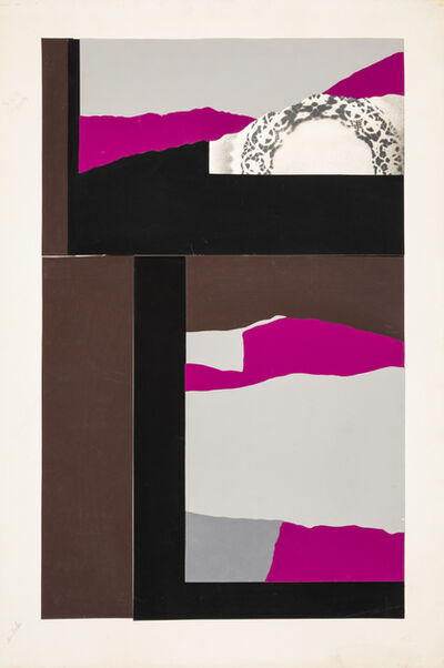 Louise Nevelson, 'Untitled Collage Study, together with a signed lithograph of the work'