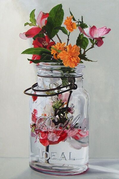 Peggie Blizard, 'Quince Blossoms in Water'