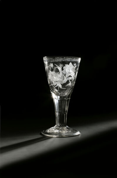 Baroque Glass, 'Goblet with floral decoration and insects', Potsdam or Zechlin, c. 1730, 1740