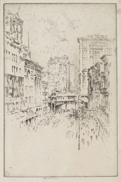 Joseph Pennell, 'Forty-Second Street', 1904