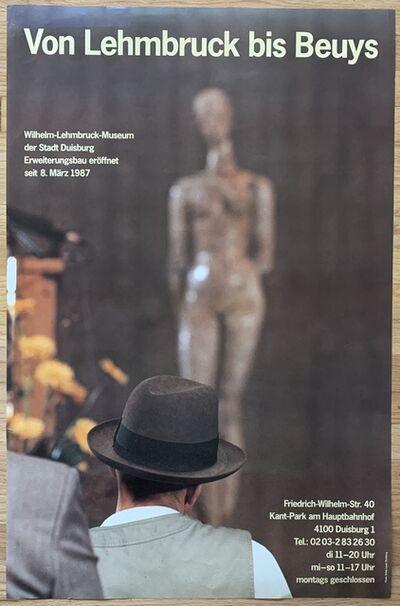 Joseph Beuys, 'Von Lehmbruck bis Beuys (Original Vintage Exhibition Poster)', 1987