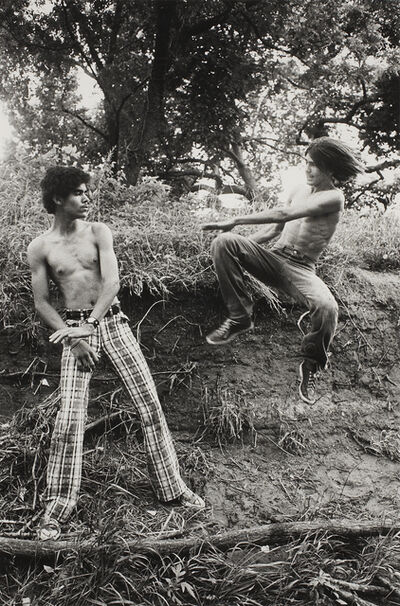 Larry Clark, 'Playing Kung Fu in the Park', 1975