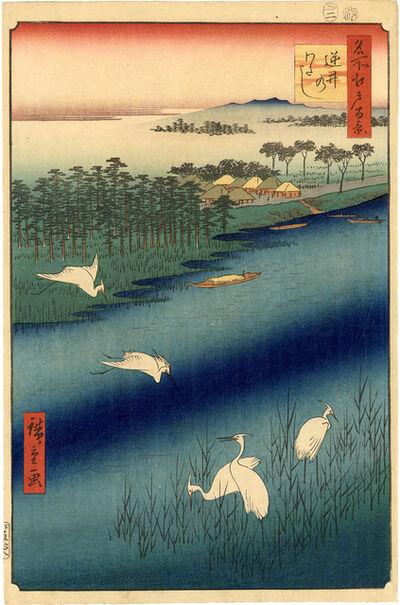 Utagawa Hiroshige (Andō Hiroshige), 'White Herons at Sakasai Ferry (1st Edition)', 1857