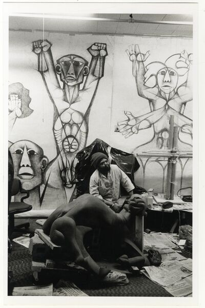 George Hallett, 'Dumile Feni's Studio, New York', 1982