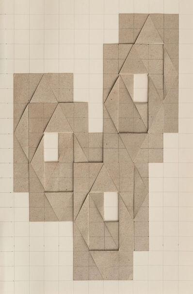 Karl Heinz Adler, '6 geschichtete und mittig aufgeklappte Rechtecke', 1984