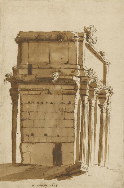 Cornelis van Poelenburgh, 'The Arch of Septimius Severus, Rome', 1623
