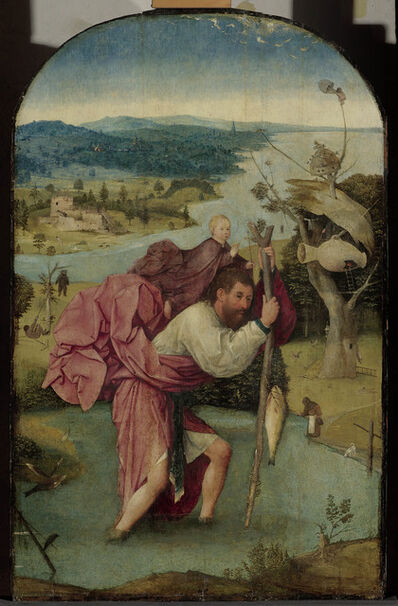 Hieronymus Bosch, 'Saint Cristopher carrying the Christ Child', 1490-1500