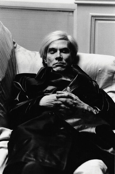 Helmut Newton, 'Andy Warhol, Paris', 1974