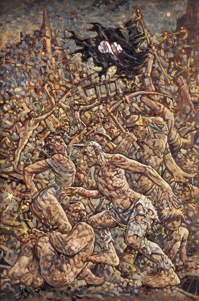 Peter Howson, 'Curse them! Kill them! Verflucht Sie! Bringt sie um!', 2017