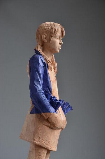 Willy Verginer, 'La bambina con i petali in tasca', 2014