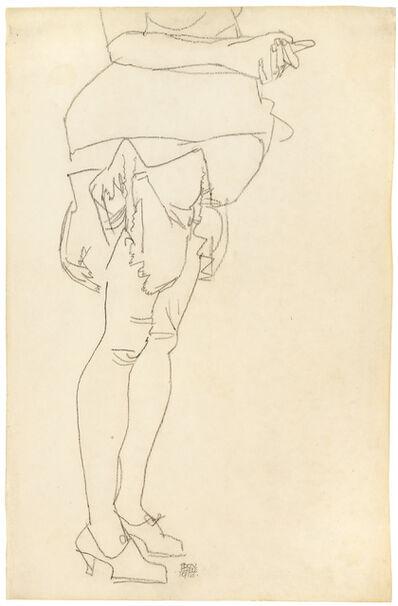 Egon Schiele, 'Standing Woman, Study of Legs', 1913
