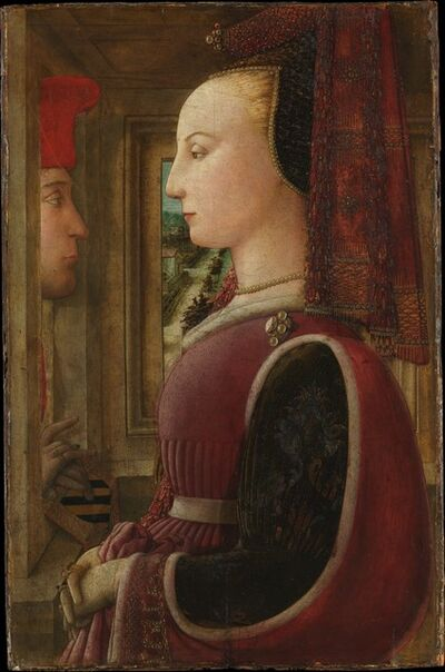 Fra Filippo Lippi, 'Portrait of a Woman with a Man at a Casement', ca. 1440