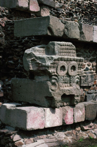 'Mask of the Rain­ God Tlaloc', 3rd-6th century A.D.