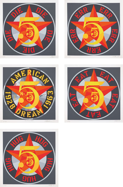 Robert Indiana, 'American Dream No. 5 (The Golden Five) (S. 113)', 1980