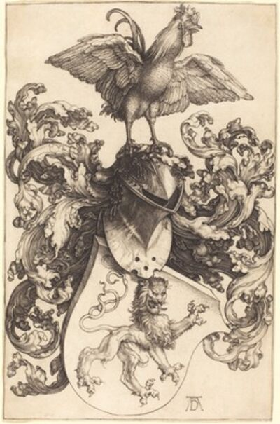 Albrecht Dürer, 'Coat of Arms with a Lion and a Cock', 1502/1503