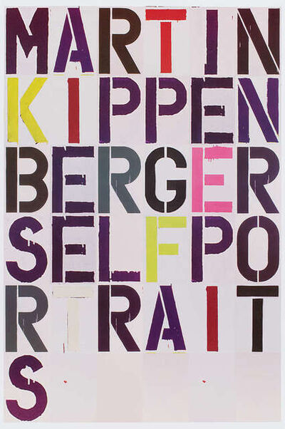 Christopher Wool, 'Self Portrait Exhibition Poster', 2005