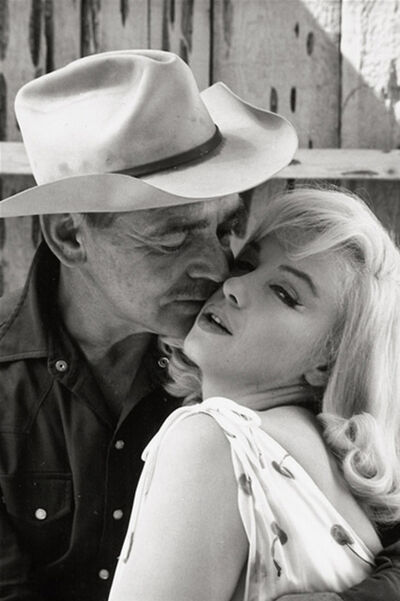 Elliott Erwitt, 'Marilyn Monroe and Clark Gable on the set of The Misfits, Nevada', 1960