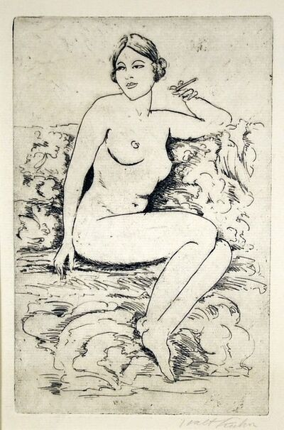 Walt Kuhn, 'Nude on Couch, Smoking', ca. 1920
