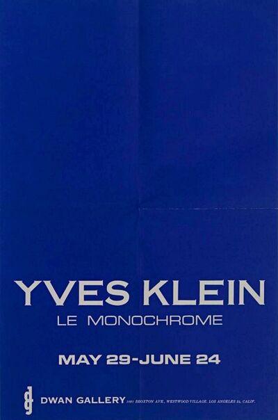 Yves Klein, 'YVES KLEIN LE MONOCHROME', 1961