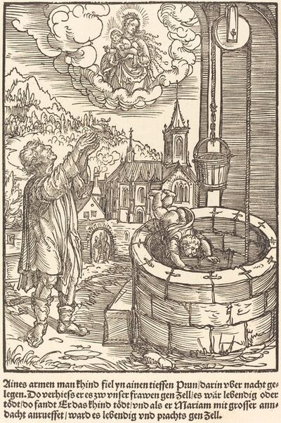 Master of the Miracles of Mariazell, 'Aines armen man khind fiel ...', ca. 1503