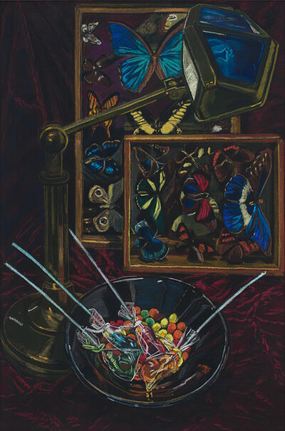 Janet Fish, 'Untitled (Still Life with Butterflies)', 1985
