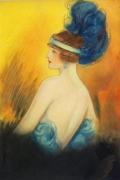 Clara Peck, 'Flapper Era Woman with Feathered Headdress', 1920-1929