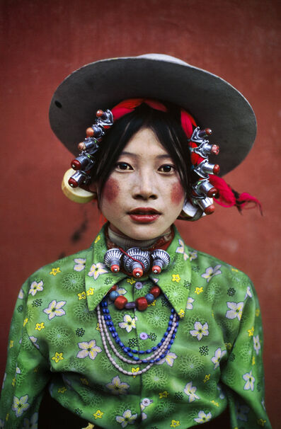Steve McCurry, 'Woman at a Horse Festival, Tagong, Tibet', 1999