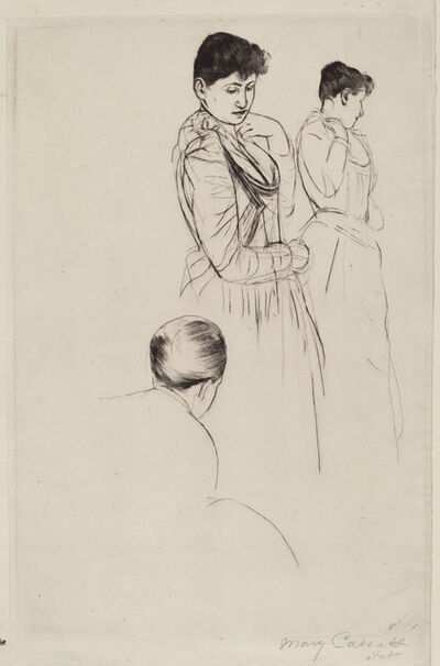 Mary Cassatt, 'The Fitting', 1890/1891