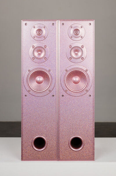 Sadie Barnette, 'Untitled (Large Pink Speakers Set)', 2019