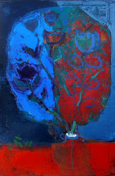 Serhiy Hai, 'Blue and Red Flowers', 2012