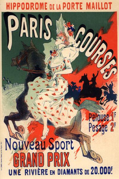 Jules Chéret, 'Paris-Courses', 1895-1900