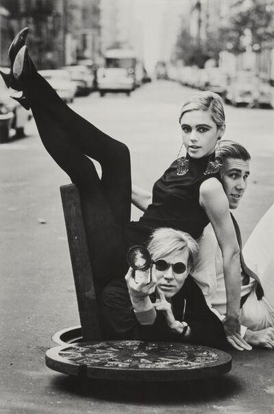 Burt Glinn, 'Andy Warhol with Edie Sedgwick and Chuck Wein'