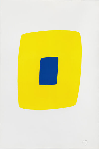 Ellsworth Kelly, 'Yellow with Dark Blue', 1964-1965