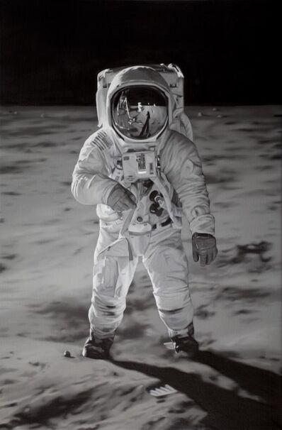 Tony Lloyd, 'Neil Armstrong reflected in Buzz Aldrin's helmet', 2019