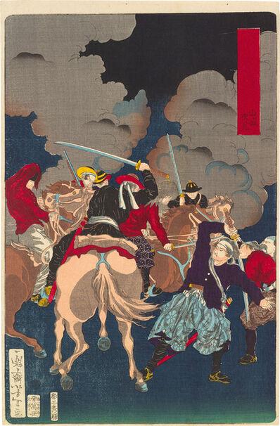 Tsukioka Yoshitoshi, 'Eight Views of Warriors in the Provinces: Fushimi in Yamashiro', 1871