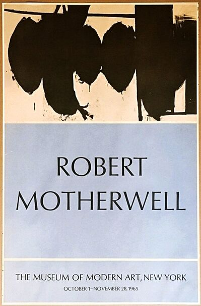 Robert Motherwell, 'Robert Motherwell at MOMA (Hand signed and inscribed)', 1965